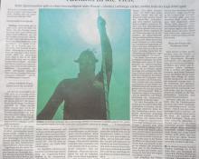 Zeitungsbericht über das Apnoetauchen