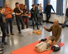 Kurs in Herz- Lungen- Wiederbelebung HLW Tauchclub Plattling