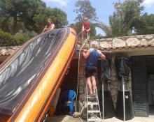 Elba 2016 - Reinigen der Boote