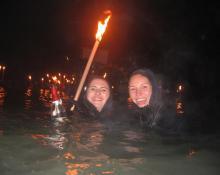 Innfackelschwimmen in Rosenheim